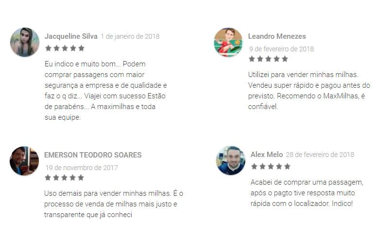 Max Milhas opiniões de clientes
