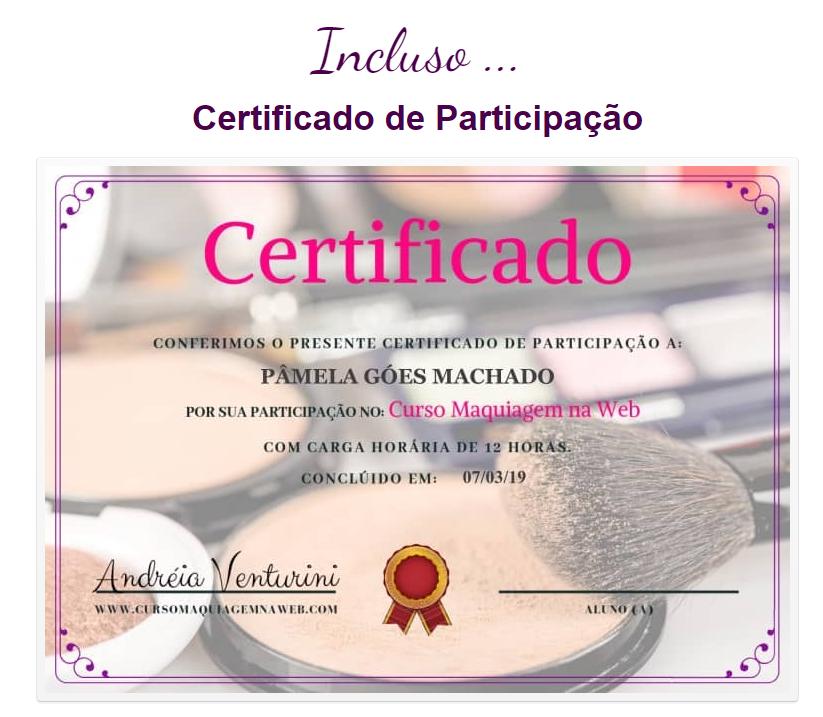 curso de automaquiagem online com certificado